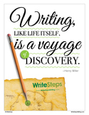 Writing is a Voyage of Discovery Classroom Poster