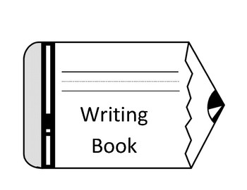 Writing journal/ handwriting book with cover page