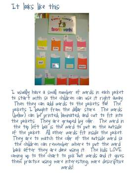 Writing lesson~Fancy Words