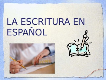 Writing lessons/ lecciones de escritura