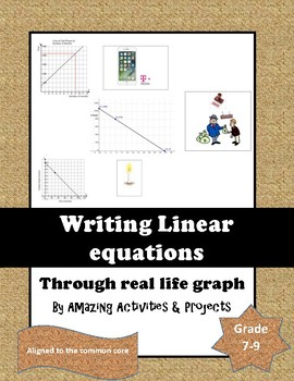 Writing linear equation from real life grpah