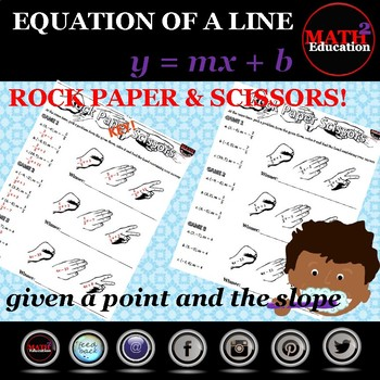 Writing linear equations in slope-intercept form Rock Paper Scissors!!!
