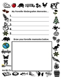 Writing list of Favorite Memories in Kindergarten