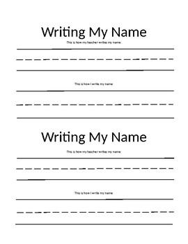 Writing Name Practice By Princess Preschool Teachers Pay Teachers