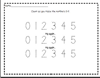 Writing numbers 0-20 (and beyond) a little at a time differentiated.