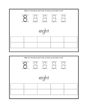 Writing numbers 6-10