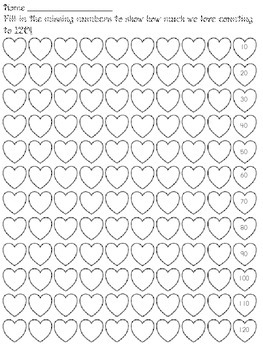 Valentine's Day: Write Numbers to 120 in Hearts!