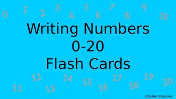 Writing numbers to 20 Flash Cards