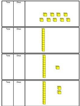 Writing numbers using base 10 blocks 1-100