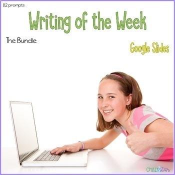 Writing of the Week Bundle Google Slides™ Edition