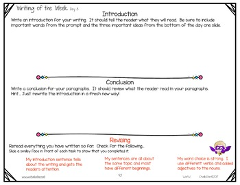 Writing of the Week Descriptive Google Edition