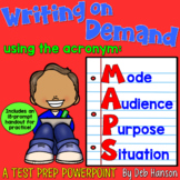 Writing on Demand PowerPoint (58 slides!) and Packet of 18 Writing Prompts
