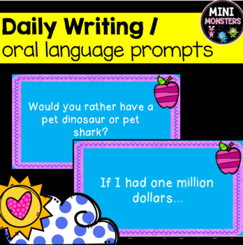 Oral Language and Writing Prompts (OVER 100!)