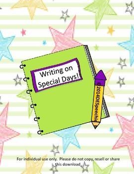 Writing on Special Days!