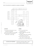 """Writing on the Wall"" vocabulary crossword"