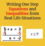 Writing one step equations and inequalities