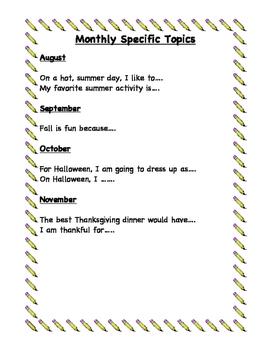Writing or Journaling Topics
