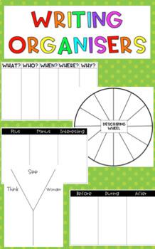 Writing organisers & think sheets BUNDLE! {5 types}