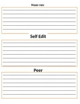 Writing organizer