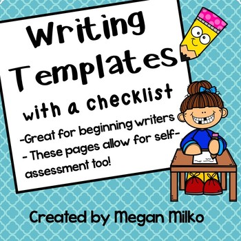 Writing page template