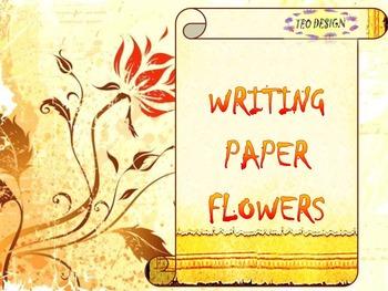 Writing paper - Flowers - Clip Art - Activities