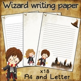 Writing paper for Harry Potter fans - 18 sheets - Light pa