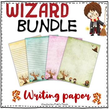 Writing paper for Harry Potter fans - PACK of 33 sheets