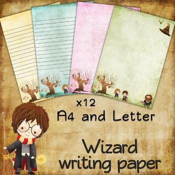Writing paper for Harry Potter fans - 12 sheets