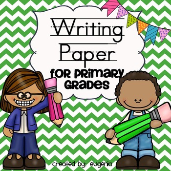 Writing paper for primary grades