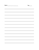 Writing paper-no picture