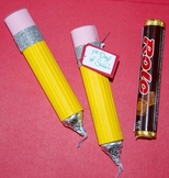 """""""Writing"""" pencils made from Rolos!  (Set of 6)"""