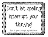Writing poster (spelling)