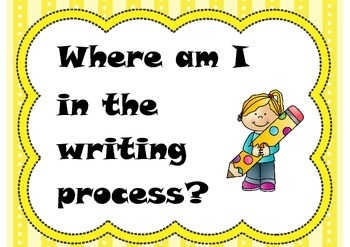 Writing process sign