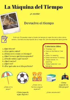 Freebie-  Writing prompts for Spanish class (Level 2+)