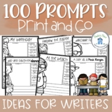 Writing prompts over 100 prompts