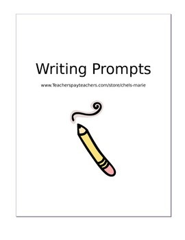 Writing prompt packet (summer writing packet) - Graphic Or