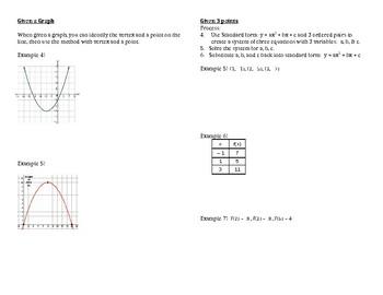 Writing quadratic equations