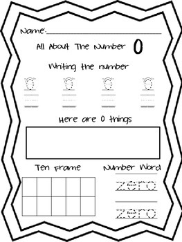 Writing, reading, and making numbers 0-10