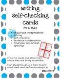 Writing self checking cards