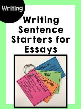 Writing sentence starters for essays