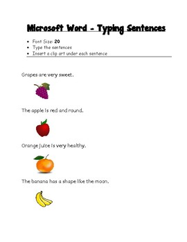 Writing sentences with pictures (Early Years)
