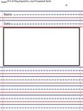 Writing sheet