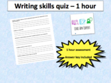 Writing skills for middle school - 1 hour assessment with