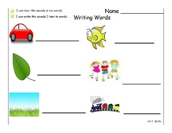 Writing sounds in words