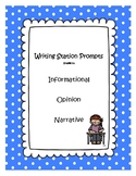 Writing station prompts bundle - Informational, opinion, n