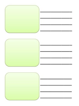 Writing template K-1-2 Powerpoint