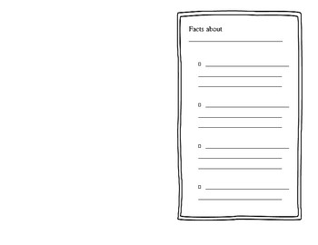 Writing template- book making template