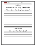 Writing template for Story elements