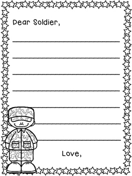 Writing Templates For Letters To The Military  Letter Writing Template