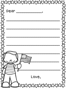 photo relating to Letter Writing Template for Kids known as Crafting Templates for Letters in direction of the Military services